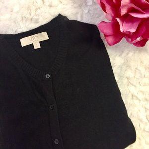 LOFT Black Cardigan Sweater